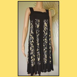 VOIR VOIR SUNDRESS BLACK YELLOW SIZE 10 EUC COMFY